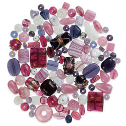 Bead Collections - Pinks and Purples - 1 lb.