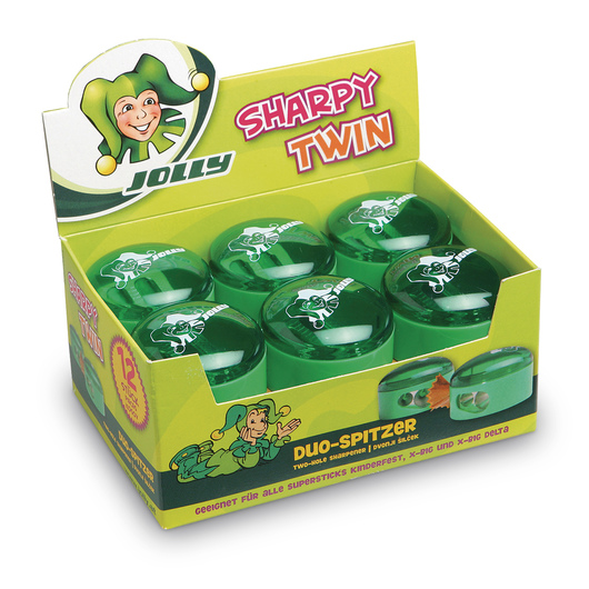 Jolly Sharpy Twin Universal Pencil Sharpeners - Box of 12