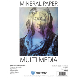 Yasutomo® Mineral Paper Artist Pad - 20 Sheets - 8-5/8 in. x 12 in. - 100 lb.