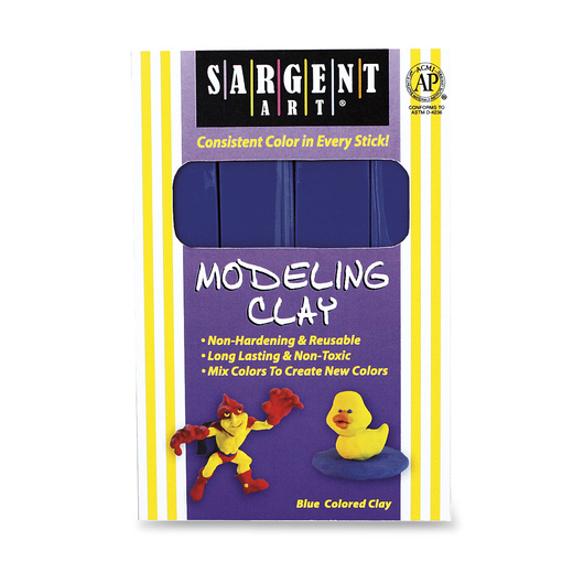 Sargent Art® Non-Hardening Individual Modeling Clay - 1-lb. Pkg. - Blue