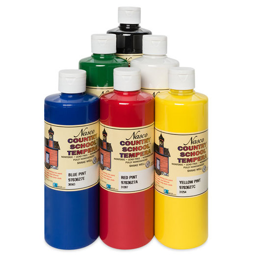 Nasco Country School™ Student Grade Tempera Paints - Pint Set #2