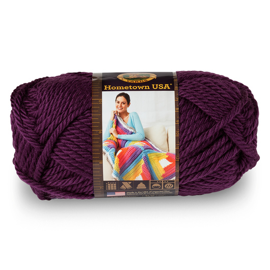 Lion Brand® Hometown USA® Yarn - 81 yds. - Portland Wine