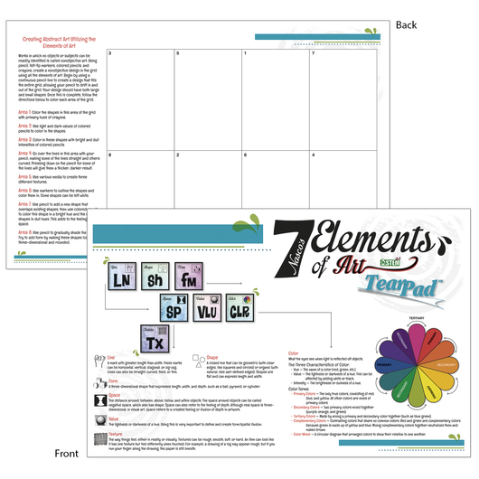 7 Elements of Art TearPad™ - 50 sheets - 11 in. x 17 in.