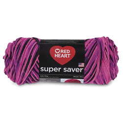 Red Heart® Super Saver Yarn Prints and Multis - Panther Pink