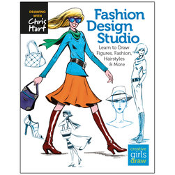 Fashion Design Studio: Learn to Draw Figures - Fashion - Hairstyles - & More