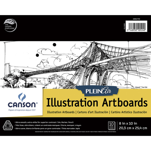 Canson® Plein Air Illustration Art Board Pads - 8 in. x 10 in.
