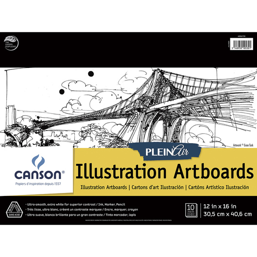 Canson® Plein Air Illustration Art Board Pads - 12 in. x 16 in.