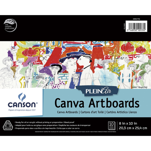 Canson® Plein Air Canva Art Board Pads - 8 in. x 10 in. - 10 Boards