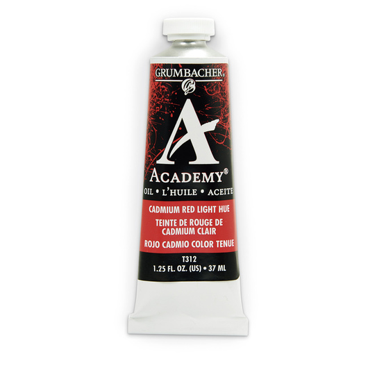 Grumbacher® Academy® Oil Paint - 37 ml - Cadmium Red Light Hue
