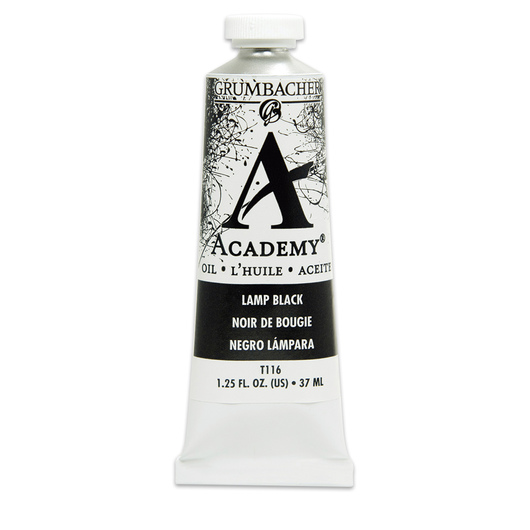 Grumbacher® Academy® Oil Paint - 37 ml - Lamp Black