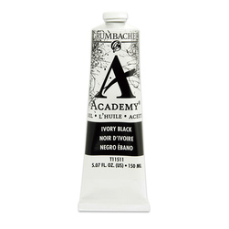 Grumbacher® Academy® Oil Paint - 150 ml - Ivory Black