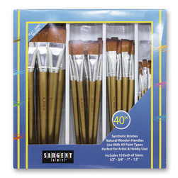 Sargent Art® Jumbo Synthetic Brush Classroom Pack of 40