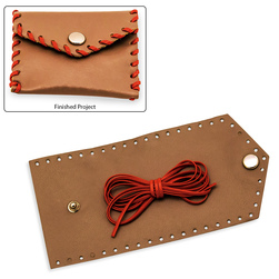 Leather Coin Purse Kit - Small