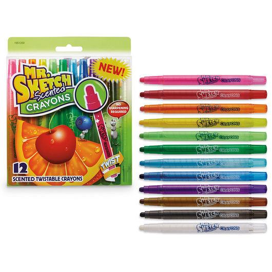 Mr. Sketch® Scented Twistable Crayons - Set of 12