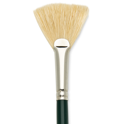 Interboro® White Bristle Brush - Fan Size 6