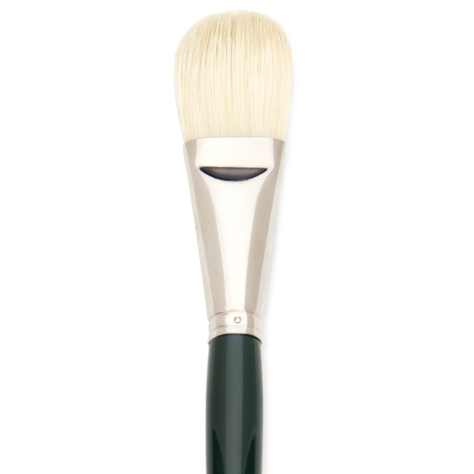 Interboro® White Bristle Brush - Filbert Size 18
