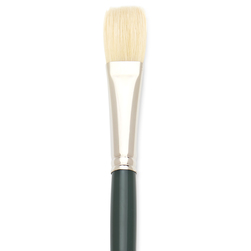 Interboro® White Bristle Brush - Flat Size 12