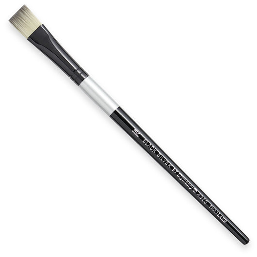 Black Silver by Dynasty® Brush - Bright Size 14