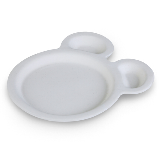 Duncan® Oh Four' Bisque Animal Plate - Pkg. of 6