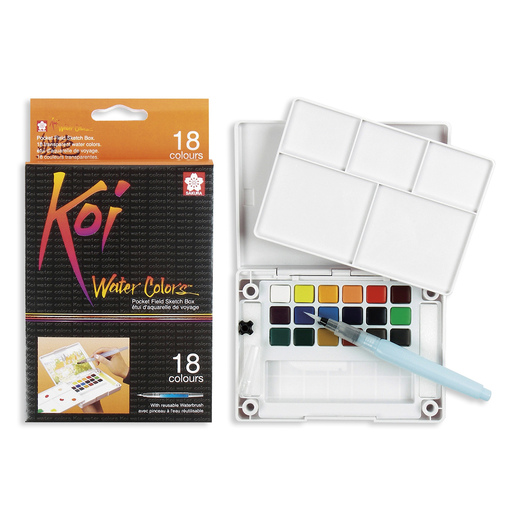 Sakura Koi® Water Colors™ Field Sketch Kits - 18-Color Set