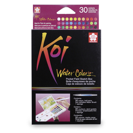 Sakura Koi® Water Colors™ Field Sketch Kits - 30-Color Set
