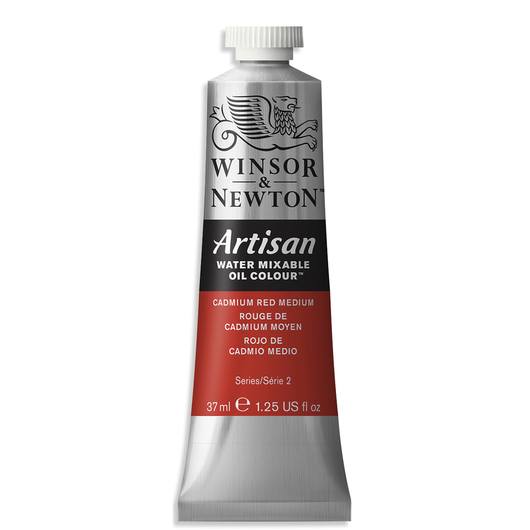 Winsor & Newton™ Artisan™ Water-Mixable Oil Color - 1.25 oz. (37 ml) - Cadmium Red Medium