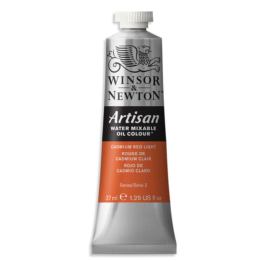 Winsor & Newton™ Artisan™ Water-Mixable Oil Color - 1.25 oz. (37 ml) - Cadmium Red Light