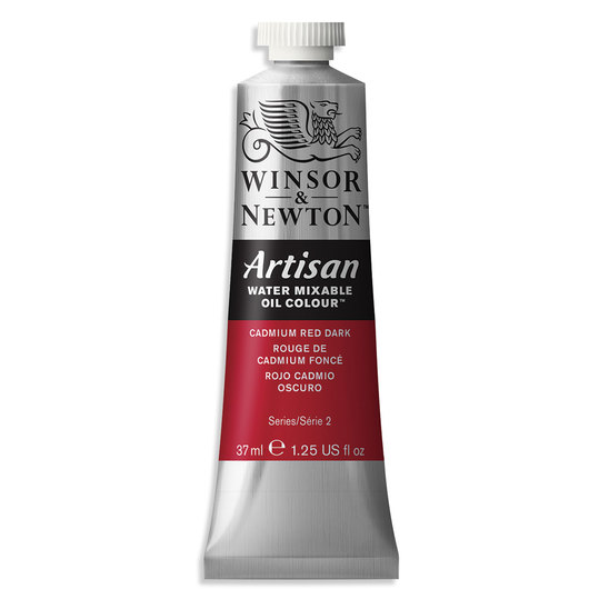 Winsor & Newton™ Artisan™ Water-Mixable Oil Color - 1.25 oz. (37 ml) - Cadmium Red Dark