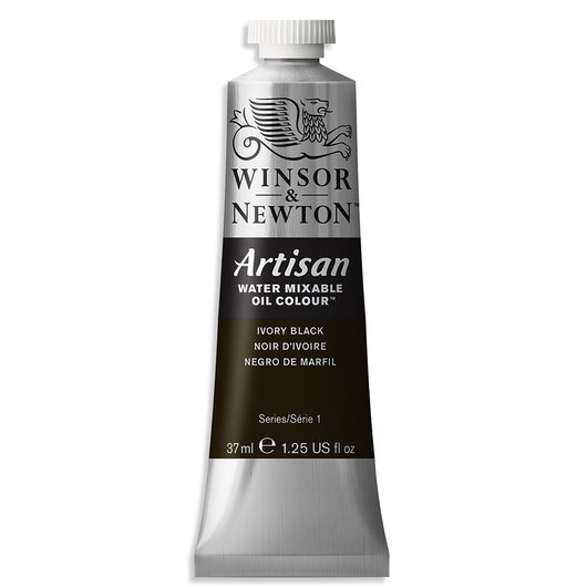 Winsor & Newton™ Artisan™ Water-Mixable Oil Color - 1.25 oz. (37 ml) - Ivory Black