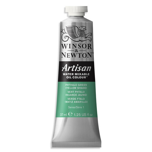 Winsor & Newton™ Artisan™ Water-Mixable Oil Color - 1.25 oz. (37 ml) - Phthalo Green Yellow Shade