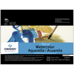 Canson® Montval® Watercolor Paper Block - 6 in. x 9 in. - 15 Sheets - 140 lb.