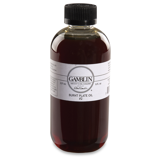 Gamblin Burnt Plate Oil #2 - 8 oz.