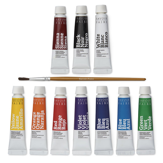 Opaque Watercolor Gouache - 10 ml tubes - Set of 10