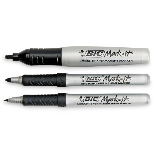 BIC® Marking™ Permanent Multi-Tip Black Markers - Set of 3