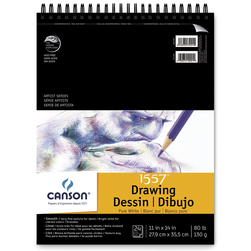 Canson® Pure White Drawing Pad - 11 in. x 14 in. - 24 Sheets - 80 lb.