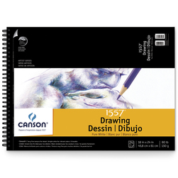 Canson® Pure White Drawing Pad - 18 in. x 24 in. - 24 Sheets - 80 lb.