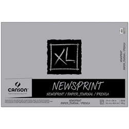 Canson® XL® Newsprint Pad - 24 in. x 36 in. - 100 sheets - 30 lbs. - Fold over binding