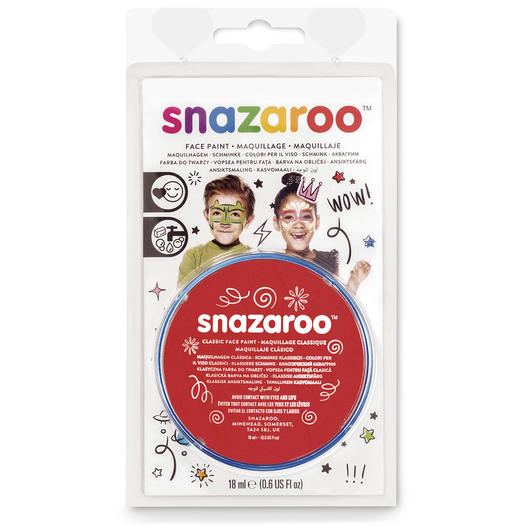 Snazaroo™ Face Paint - 0.61-oz. (18 ml) Compact - Bright Red