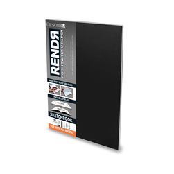 RENDR™ No Show Thru Paper - Lay-Flat Sketchbook 3-1/2 in. x 5-1/2 in. - 32 Sheets