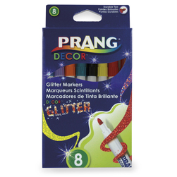 PRANG® Decor™ Glitter Markers - Set of 8