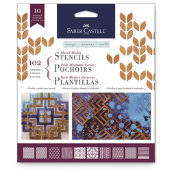 Faber-Castell® Mixed Media Stencils - Classic - 6-1/2 in. x 6-1/2 in. - Set of 10