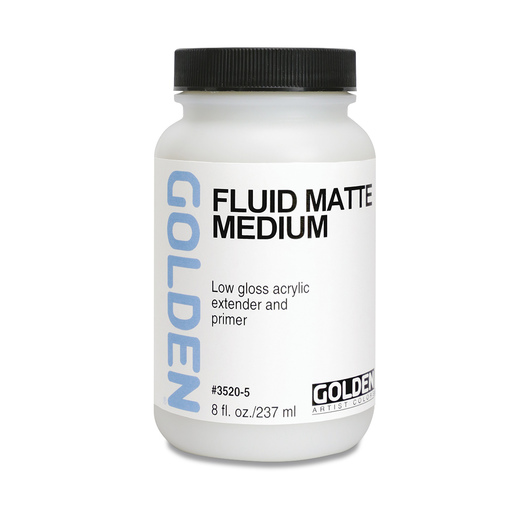 Golden® Fluid Matte Medium - 8 oz.
