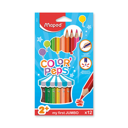 Maped® Triangular Jumbo Colored Pencils - Set of 12