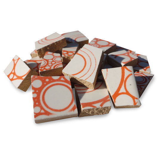 Crafter's Cut™ Precut Ceramic Prints Mosaic Tiles - Circles - 3 lb. - Sienna