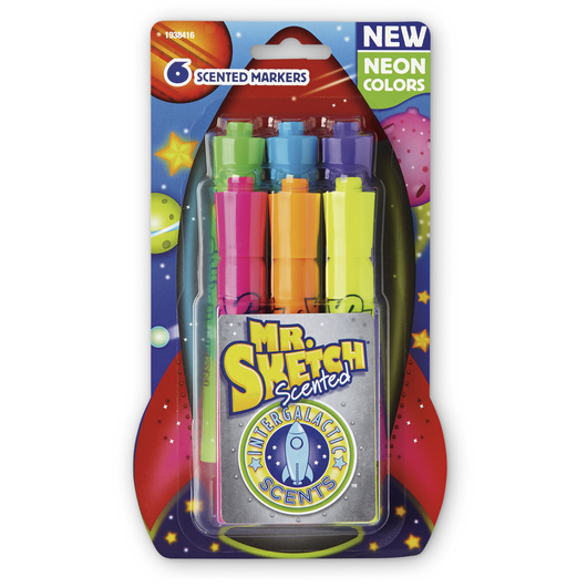 Mr. Sketch® Intergalactic Neon Scented Markers - Set of 6