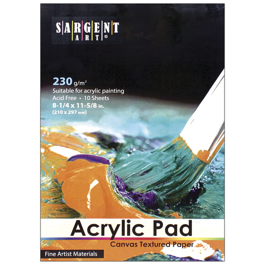Sargent Art® Acrylic Pad - 10 Sheets - 8-1/4 in. x 11-5/8 in.