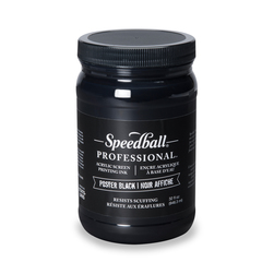 Speedball® Professional Screen Printing Acrylic Ink - 32 oz. - Poster Black