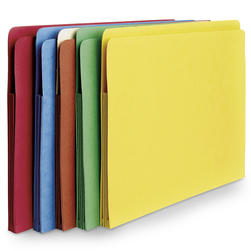 Project Folders - Set of 5 Assorted Colors