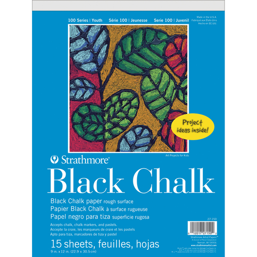 Strathmore® 100 Youth Series Black Chalk Pad - 9 in. x 12 in. - 15 Sheets