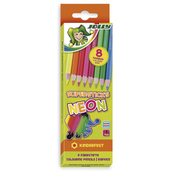 Jolly Colored Pencils - Set of 8 Neon Supersticks
